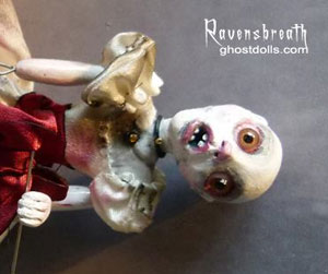 Annabel Lee clay ghost doll