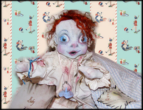 BABY Ghost Doll sitting from Ravensbreath