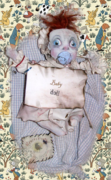 BABY Ghost Doll with dummy and travelling bag from Ravensbreath