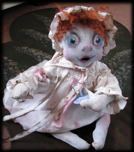 BABY Ghost Doll in bonnet from Ravensbreath