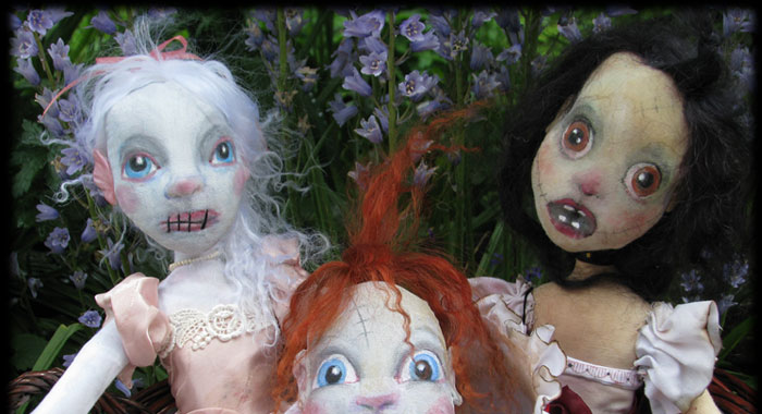 Ratgirl, Baby and Annabel Lee Ghost Dolls of Ravensbreath